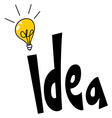 idea word design vector image
