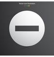 minus web icon vector image