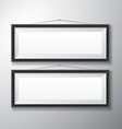 Picture Frames Black Horizontal vector image