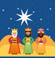 three kings of orient vector image