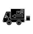 truck delivery shipping icon vector image