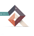 Abstract geometric shape for web design vector image vector image