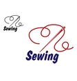 Needlework or sewing symbol vector image