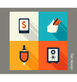 Business icon set Finance and banking e-commerce vector image vector image