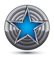Celebrative glamorous geometric symbol stylized vector image