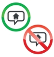Home message permission signs vector image