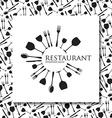 restaurant identity vector image vector image