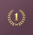 Number one 1 laurel wreath logo icon design vector image