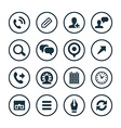 company icons universal set vector image