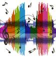 Background music wave vector image
