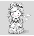 Pretty Drawing Princess vector image
