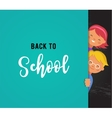 back to school - education creativity and science vector image
