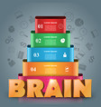 brain infographic and business icon vector image