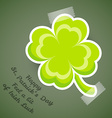 Four-leaf clover adhesive tape vector image