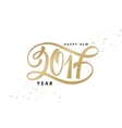 new 2017 year greetings poster with hand vector image