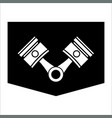 pistons and rods icon vector image