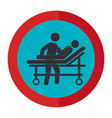 stretcher medical isolated icon vector image