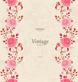vintage invitation card with seamless floral vector image