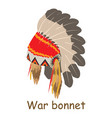 war bonnet icon isometric 3d style vector image