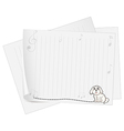An empty piece of paper with an animal design vector image vector image