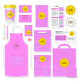 coffee house identity template set pink color vector image