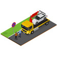 tow truck isometric view vector image