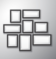 Picture Frames Black Variety vector image