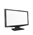 Screen monitor isolated on white background vector image vector image
