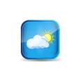 icon weather vector image