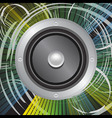 grunge speaker vector image vector image