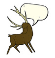 cartoon stag with speech bubble vector image