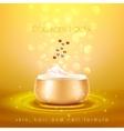 Collagen Skin Cream Golden Background Poster vector image