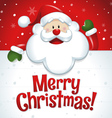 Merry Christmas Santa Claus with big white sign vector image