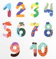Numbers like man symbols vector image