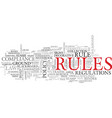 rule word cloud concept vector image