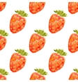 Seamless watercolor pattern with strawberry vector image