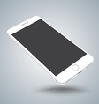 White smartphone mockups like iphon vector image