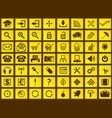 Yellow web icons vector image