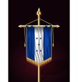 Flag of Honduras Vertical Festive Banner vector image
