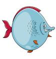 Big fish cartoon character vector image
