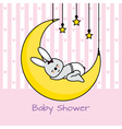 rabbit sleeping on the moon vector image