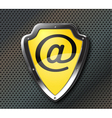 email protection shield vector image vector image