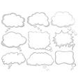 Different design of dream bubbles vector image