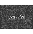 Sweden chalk vector image