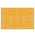 Basketball field court yard FIBA infographics vector image
