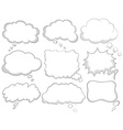 Different design of dream bubbles vector image