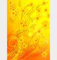 golden floral pattern vector image