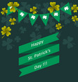 happy st patricks day greeting vector image