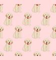 labrador golden retriever dog seamless on pink vector image