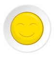 Smiley face icon cartoon style vector image